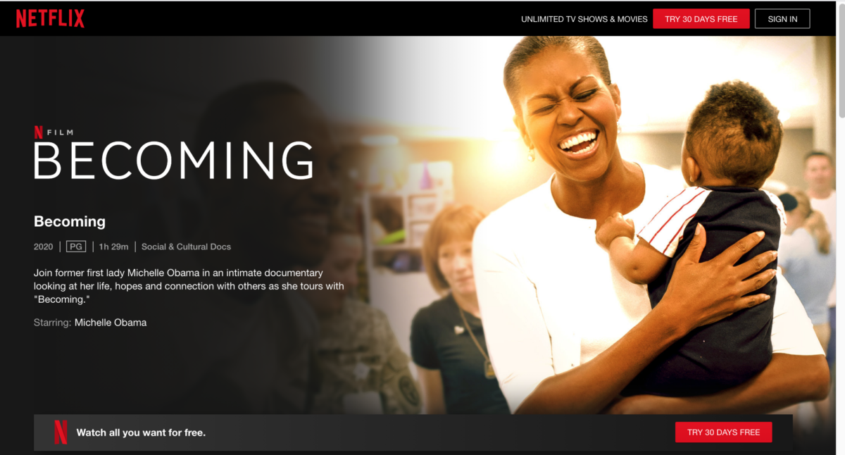 Becoming : Michelle Obama documentary, inspiring and powerful